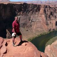 Rob boven de Horseshoe Bend