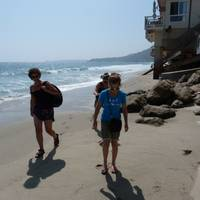 walking on Malibu Beach