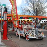 Oud gasstation on Route 66