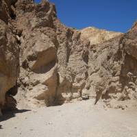Golden canyon in Death Valley.
