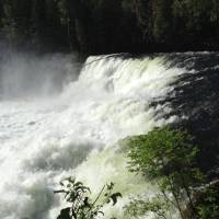 Waterval in Wells' Gray Provincial Park