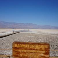 Laagste punt in de USA in Death Valley