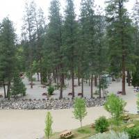 Mooie camping - Gallagher Lake Resort bij Oliver, BC, Canada