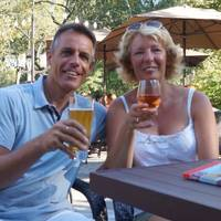 Borrel op Tavern On the Green terras in Central Park