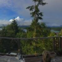 View from our balcony in Tofino