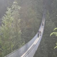 capilano suspension bridge.