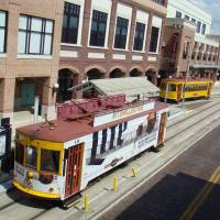 Streetcars in Tampa historic Ybor City