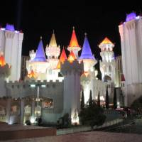 Excalibur Hotel by night