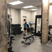 Finn en de Gym in San Fransisco. Mist het trainen