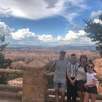 Happy family at Bryce Canyon